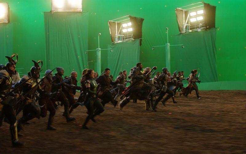 Vengadores Endgame puesta en escena hasta el cine. Llegar a conseguir una toma o escena final en los que respecta a efectos visuales y VFX.