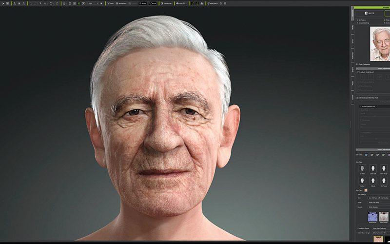 Character Creator creando humanos digitales a partir de una fotografía. Estamos viendo procesos complejos y con personas reales convertidas.