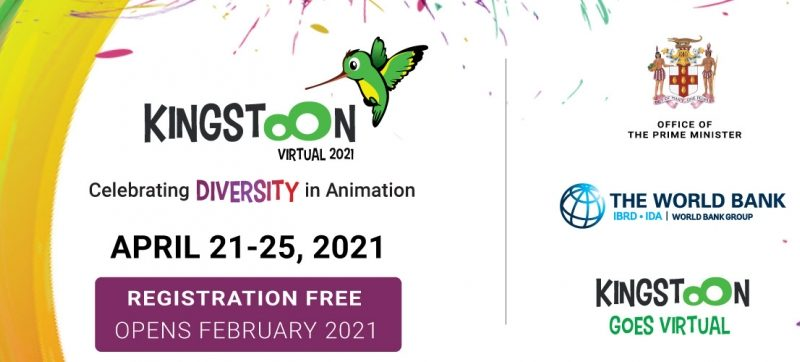 KingstOOn el principal festival de conferencias y cine de animación de Jamaica programado para el 21 al 25 de abril de 2021.