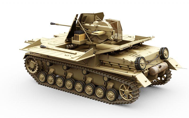 Antiaéreos Flakpanzers IV basados en el chasis de un Panzer IV