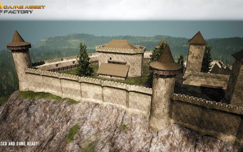 Modelo de castillo medieval para Unreal Engine