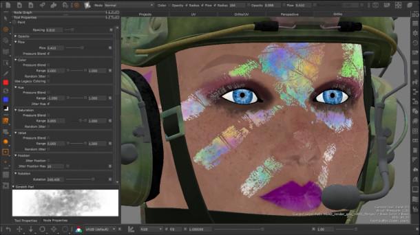 Foundry muestra su hoja de ruta 2021 para Mari, su software de pintura de texturas 3D, durante una transmisión en directo en el evento de usuario Foundry Live de esta semana