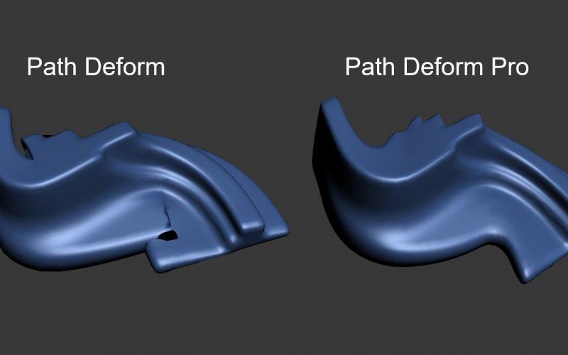 Path Deform Pro deforma reduciendo las intersecciones. Path Deform Pro deforma reduciendo las intersecciones en 3ds Max, mejorando el actual.
