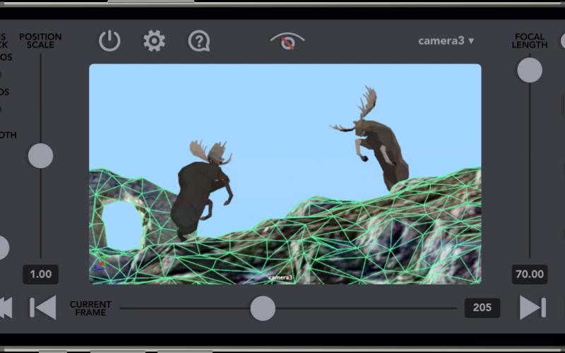VirtuCamera aplicación de Mocap de cámara iOS. VirtuCamera convierte tu iPhone o iPad en un controlador de cámara virtual, en Maya o Blender.