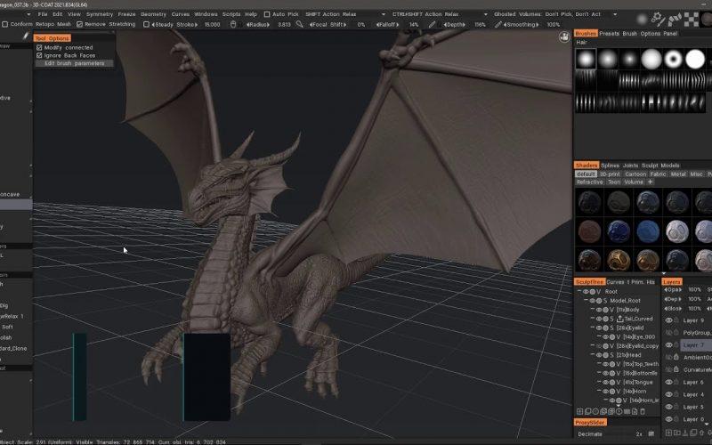 3DCoat software de escultura versión beta abierta gratuita. La actualización del software de escultura, retopología y pintura 3D de Voxel.