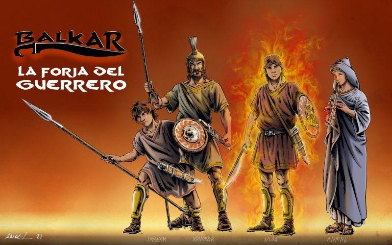 La forja del guerrero, novela gráfica. Se trata de un cómic o novela gráfica de ficción histórica ambientada en la antigua Iberia