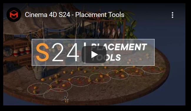 Nueva física en Cinema 4D S24 con emplazamiento automático, el diseño de escenas y el ajuste de los cambios clave de vestuario en Cinema 4D.