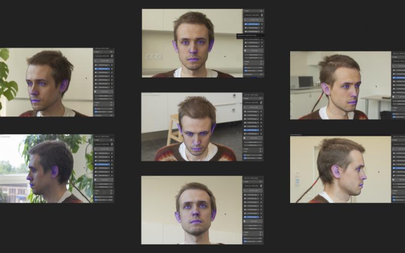 FaceBuilder crear modelos 3d a partir de cabezas humanas es un complemento para Blender para el modelado 3D de rostros y cabezas humanas.