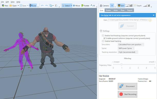 iPi Motion Capture 4, una nueva actualización de su conjunto de software de captura de movimiento sin utilizar marcadores.