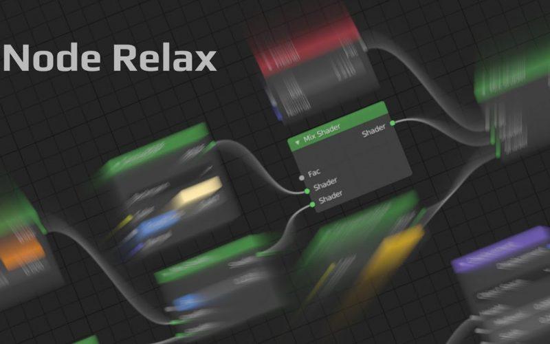 Node Relax ordena los nodos por conjunto. El artista de juegos Shahzod Boyhonov ha publicado un brillante complemento gratuito para Blender.