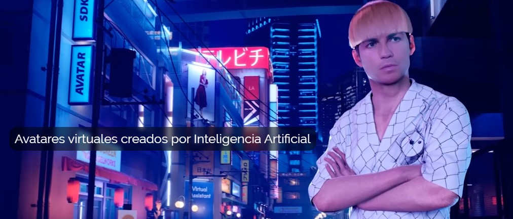 Avatares virtuales creados con tecnología de inteligencia artificial.