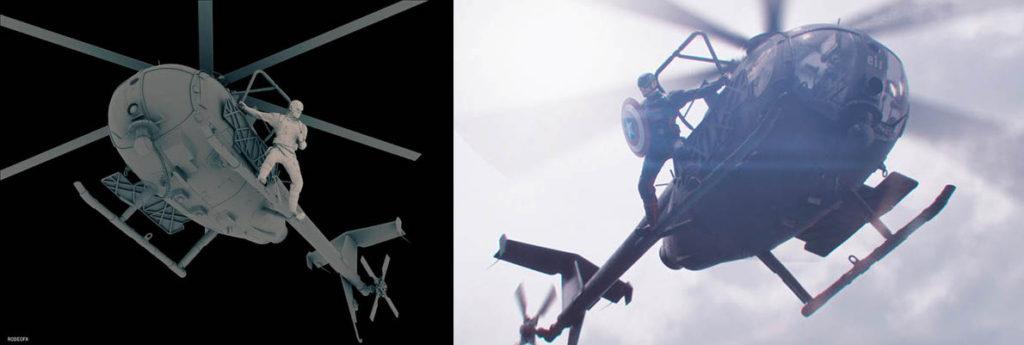 Dobles digitales de El Halcón y el soldado de invierno.