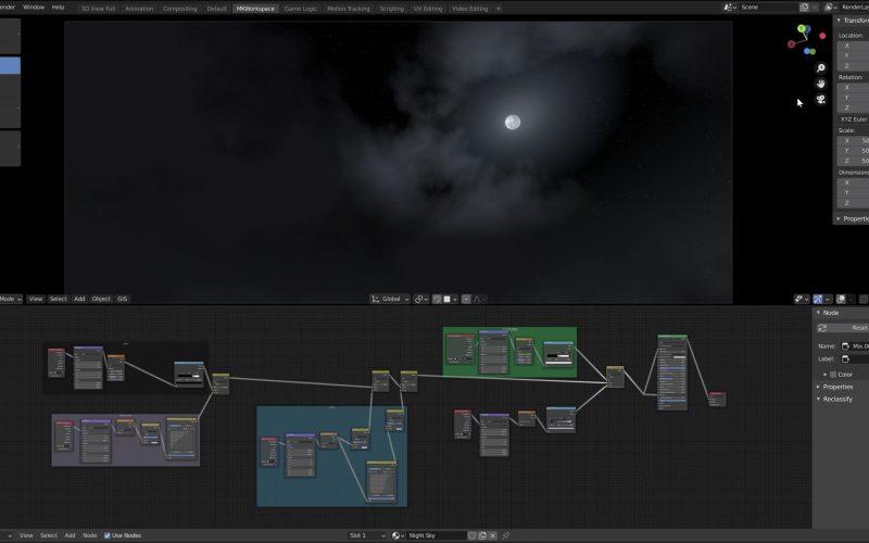 Configurar cielo nocturno estrellado en Blender. En este video, Martin Klekner, un artista e instructor de CG, comparte la forma de hacerlo.
