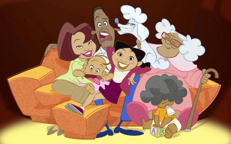 La familia Proud serie animada de Snipple.