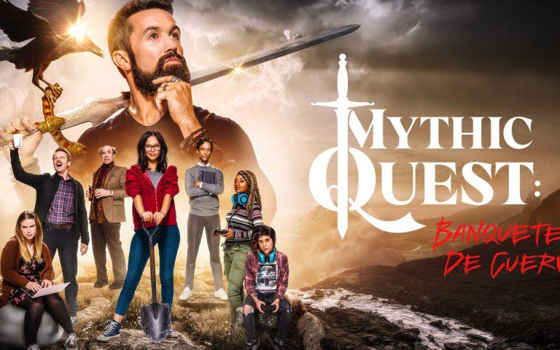Mythic Quest desglose de efectos visuales. Un grupo de desarrolladores ha creado uno de los videojuegos más populares del momento.