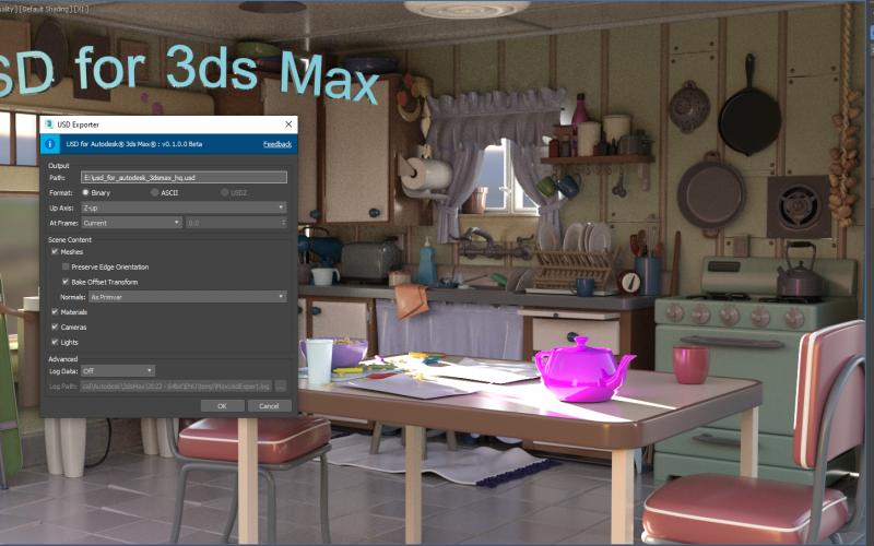 USD Universal Scene Description para 3dsMax.