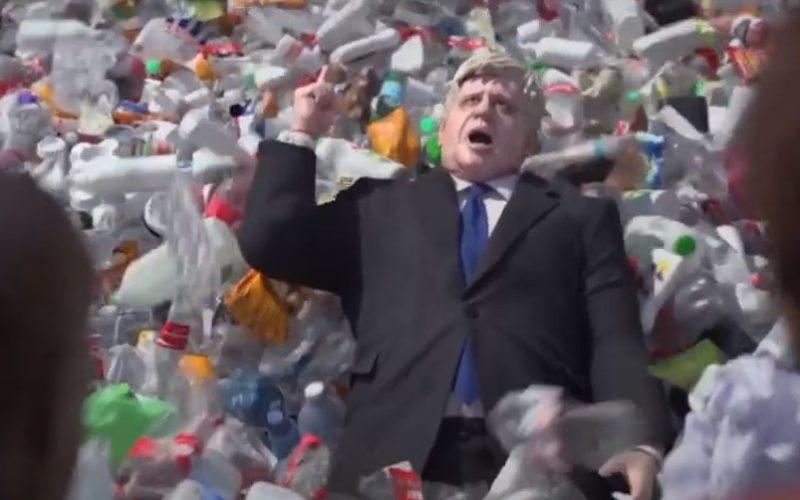 Wasteminster anuncio de Greenpeace contra residuos plásticos