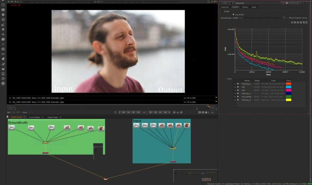 Nuke entrena redes neuronales para crear efectos personalizados