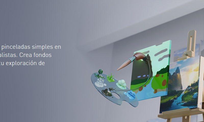 Nvidia Canvas convierte garabatos en paisajes artísticos 3D.