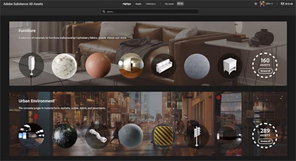 Substance 3D Collection características y novedades.