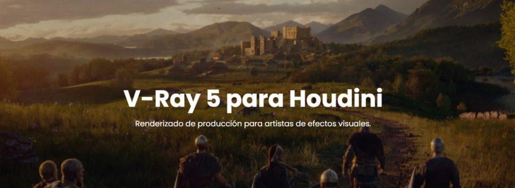 Vray 5 para Houdini en Solaris con mejoras disponibles.