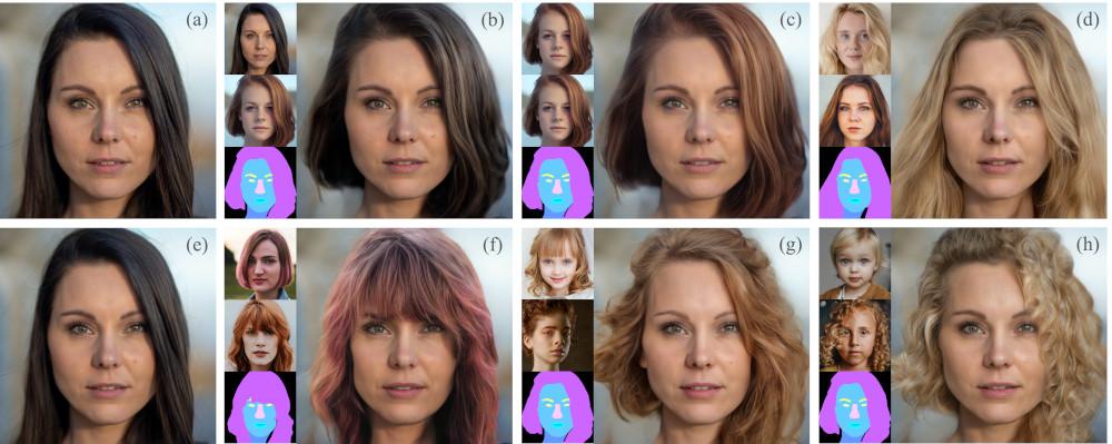 Peluquería virtual mediante máscaras de segmentación.