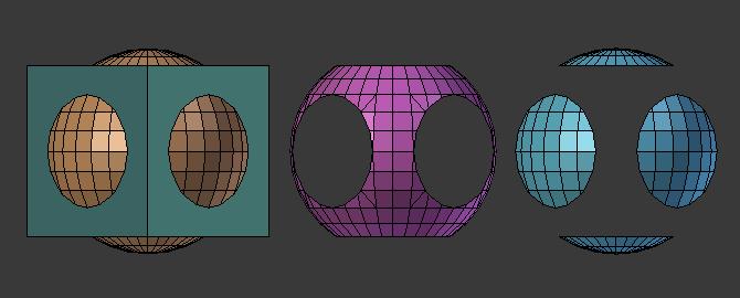 Substraer zona concreta exacta con booleana en Blender.
