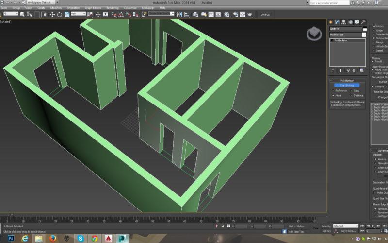 Crear un plano 3D de casa simple en 3dsmax