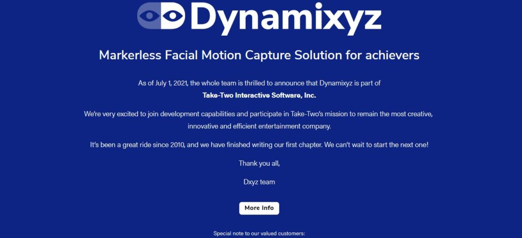 Take-Two Interactive Software adquiere Dynamixyz