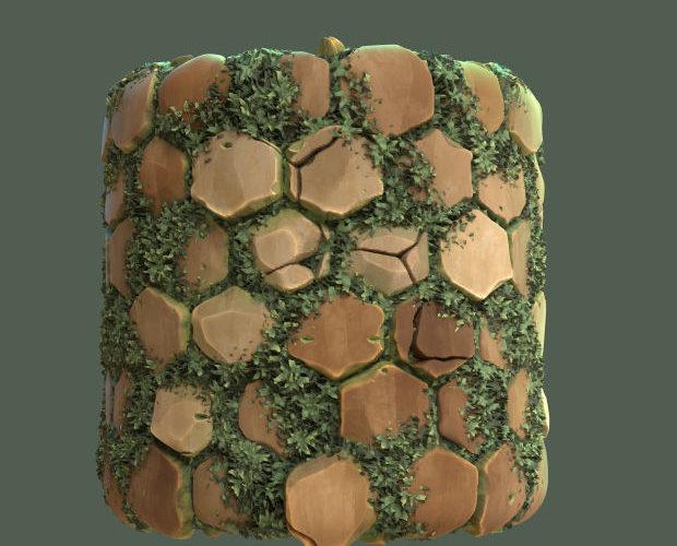 Materiales de pared estilo Ghibli en Substance 3D Designer 4