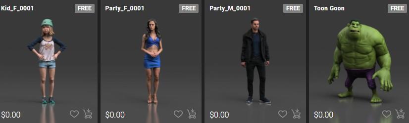 ActorCore ahora puede incluir personajes 3D de stock