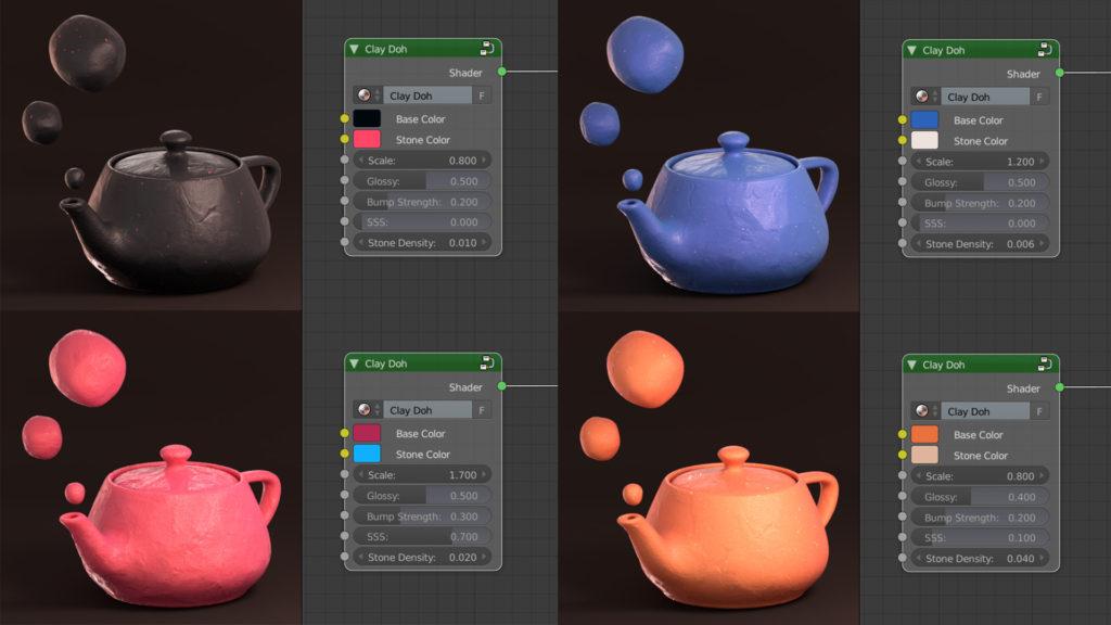 Clay Doh simula modelos 3D de arcilla con Blender