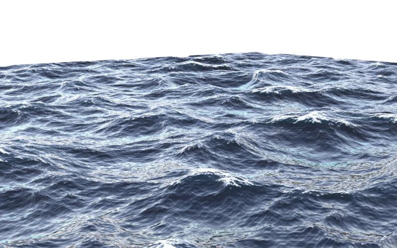 Simple Ocean Shader oceánico OSL muestras