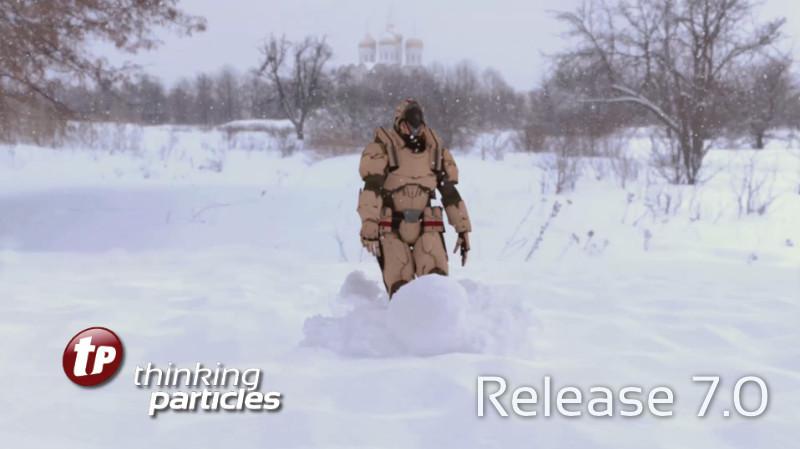 Thinking Particles 7 permite simular arena y nieve