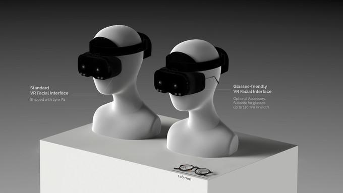Esta ilustración muestra las 2 interfaces faciales VR