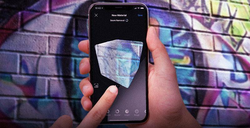 Generar materiales PBR con ArtEngine desde el móvil