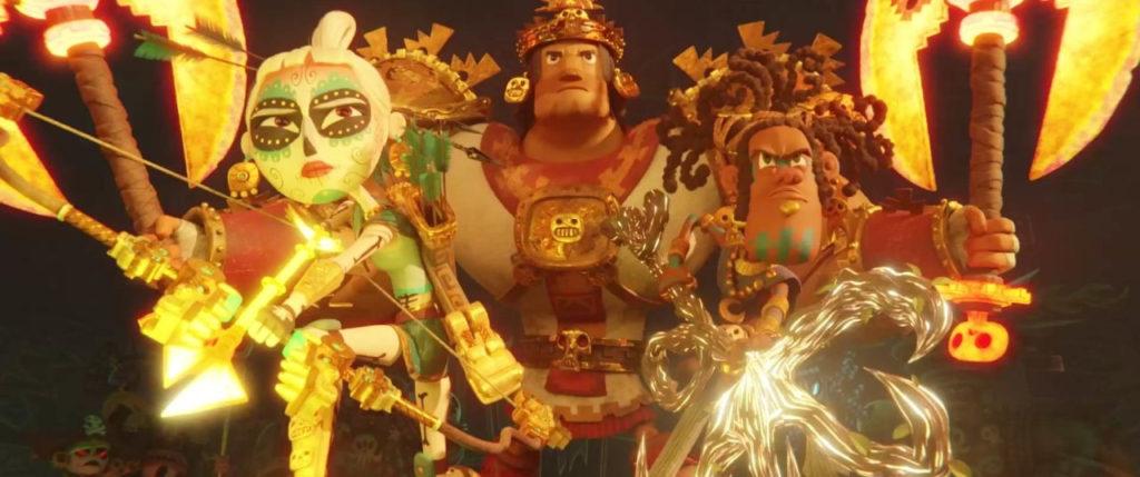La princesa Maya y el trío Chimi, Rico y Picchu