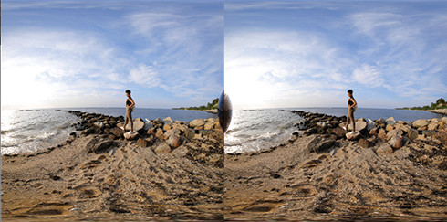 Fotografiar realidad virtual con objetivo estereoscópico